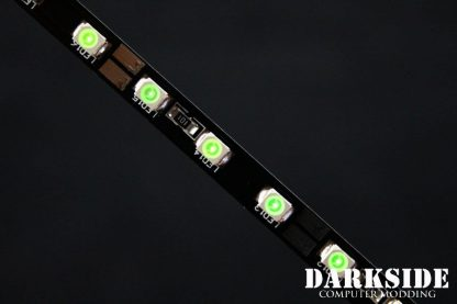 """12"""" ( 30cm ) Dimmable Rigid LED Strip V2 - GREEN - FIXED 3P CABLE-2"""