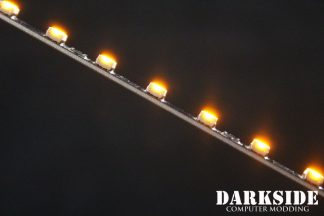 """12"""" ( 30cm ) Dimmable Rigid LED Strip V2 - ORANGE - FIXED 3P CABLE"""