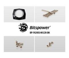 Fan Adapter 200mm to 140mm & 120mm - Black