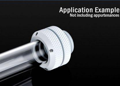 G1/4 Enhanced Multi-Link Adapter - 12mm OD Rigid Tube - Deluxe White