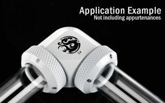 G1/4 Enhanced Dual 90-Degree Multi-Link Adapter - 12mm OD Rigid Tube - Deluxe White