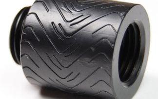 "G1/4"" Thread 20mm Extension Fitting : Racing  Black"