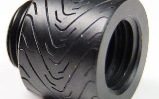 "G1/4"" Thread 15mm Extension Fitting : Racing  Black"
