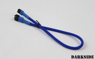 "3-Pin 30cm (12"") M/F Fan Sleeved Cable - Dark Blue UV"