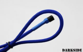 "3-Pin 40cm (16"") M/F Fan Sleeved Cable - Dark Blue UV"