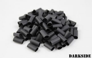 "Builder Pack of 100 - 2:1 DARKSIDE Pre-cut Heatshrink Tubing 6mm 1/4"" - Jet Black"