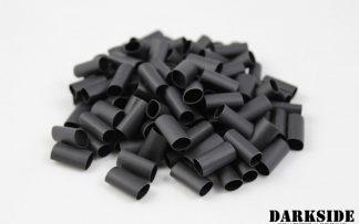 """Builder Pack of 100 - 2:1 DARKSIDE Pre-cut Heatshrink Tubing 6mm 1/4"""" - Jet Black"""