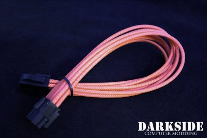"4+4 EPS 12"" (30cm) HSL DarkSide Single Braid Cable - Orange"
