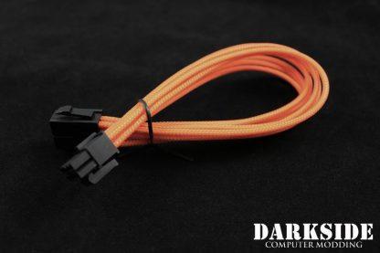 "4+4 EPS 12"" (30cm) HSL DarkSide Single Braid Cable - Orange-3"