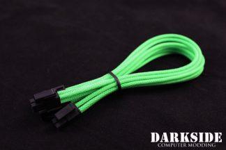 "4+4 EPS 12"" (30cm) HSL DarkSide Single Braid Cable - Green UV"