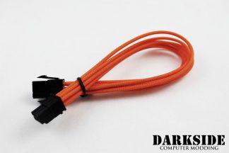 """6-Pin PCI-E HSL 12"""" (30cm) DarkSide Single Braid Cable - Orange"""
