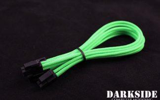 8-Pin PCI-E DarkSide HSL Single Braid Cable - UV Green