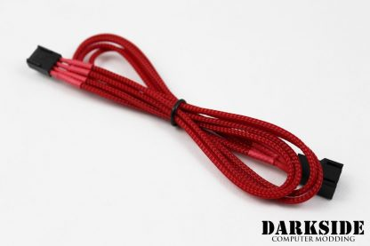 4-Pin 40cm Fan DarkSide Individual Wire Single Braid Cable - Red