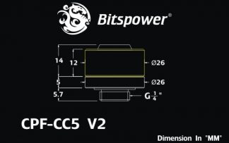 "1/2""ID - 3/4""OD Straight Compression Fitting - Silver BP-CPF-CC5"
