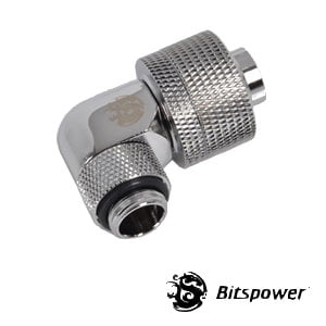 "1/2""ID - 3/4""OD Rotary 90 Deg. Angled Compression Fitting Silver-2"