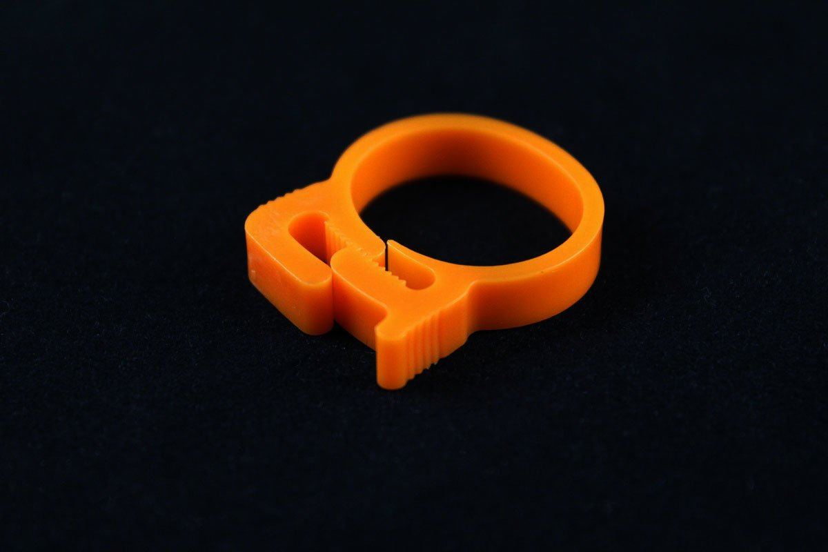 "3/4"" OD Reusable Clamp - Orange"