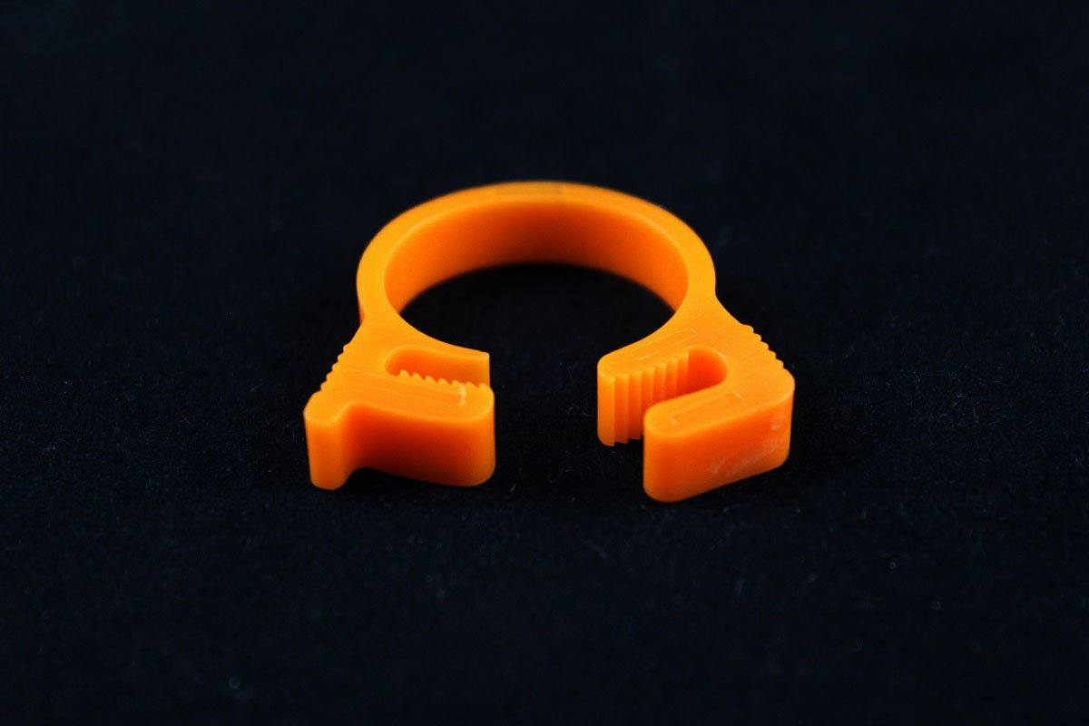 "5/8"" OD Reusable Clamp - Orange"