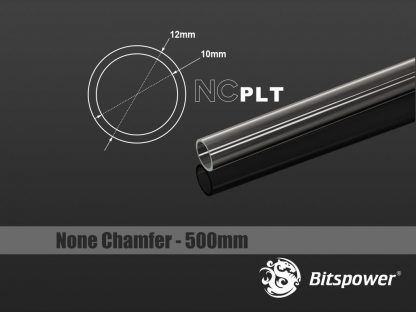 None Chamfer PETG Link Tube OD 12mm - Length 500mm