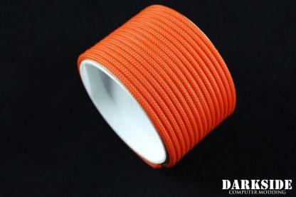 """5/32"""" (4mm) DarkSide HD Cable Sleeving - Orange II-2"""