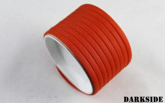 "1/4"" ( 6mm ) DarkSide High Density Cable Sleeving - Orange II"