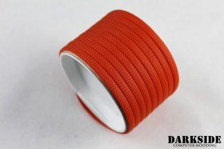 """1/4"""" ( 6mm ) DarkSide High Density Cable Sleeving - Orange II"""