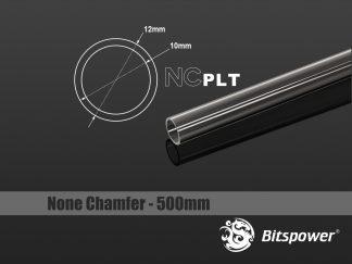 None Chamfer PETG Link Tube OD 12mm - Length 1000mm (will not ship internationally)