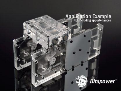 Bitspower VGA SLI/Crossfire Bridge For 3 Slots Application - Acrylic-3