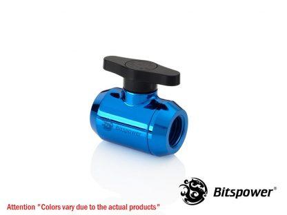 Royal Blue Mini Valve With Black Handle-3