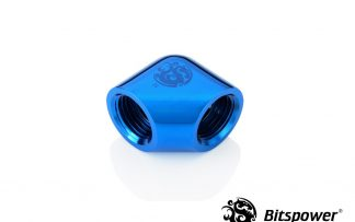 """Royal Blue 90-Degree With Dual Inner G1/4"""" Extender"""