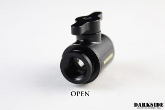 Ball Shutoff Mini-Valve - Black