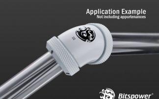 G1/4 Enhanced Dual 60-Degree Multi-Link Adapter - 12mm OD Rigid Tube - Deluxe White