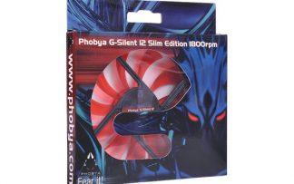 Phobya G-Silent 12 Slim Edition 1800rpm ( 120x120x15mm ) - RED