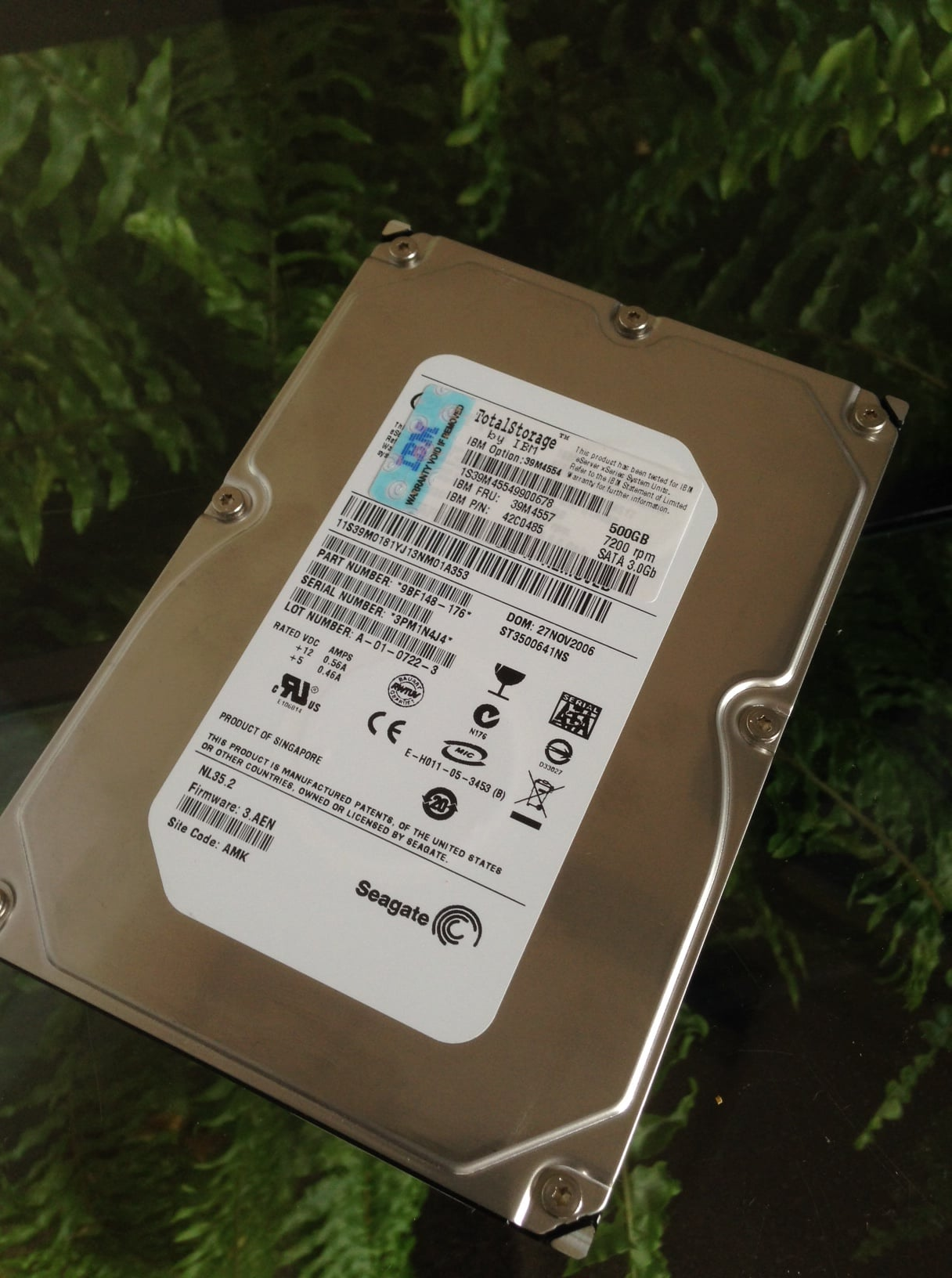 Seagate SATA3 500Gb HDD – USED
