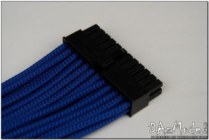 "24-Pin ATX HSL 12"" (30cm) DarkSide HSL Single Braid Cable - Dark Blue UV-2"