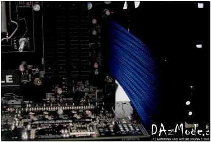 "24-Pin ATX HSL 12"" (30cm) DarkSide HSL Single Braid Cable - Dark Blue UV-3"
