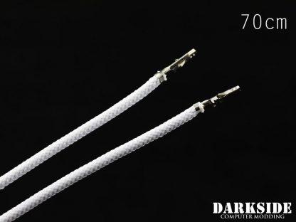27.5' (70cm) Female-Female Pre-Sleeved ATX and  PCI-E Wire - White-2