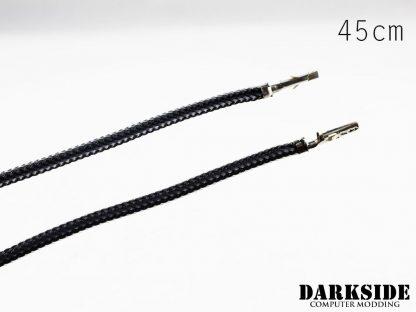 17.5' (45cm) Female-Female Pre-Sleeved ATX and  PCI-E Wire - Graphite Metallic-2