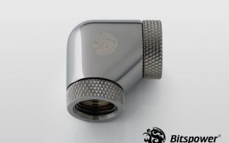 """90-Degree With Dual Rotary INNER G1/4"""" Extender - Black Sparkle"""