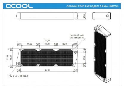 NexXxoS XT45 Full Copper X-Flow  Performance Radiator 360mm-4