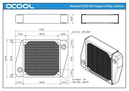 NexXxoS ST30 Full Copper X-Flow Performance Radiator 120mm-4