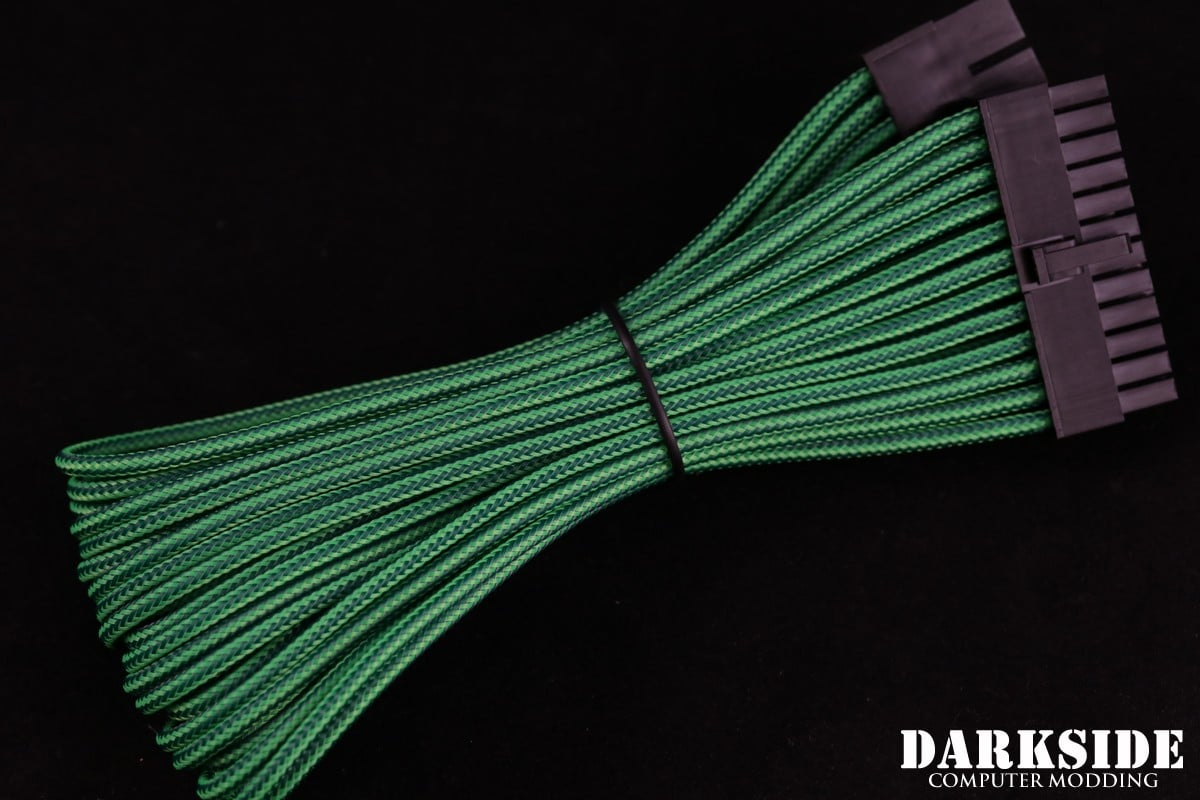 "24-Pin ATX HSL 12"" (30cm) DarkSide HSL Single Braid MF Cable - Commando (UV)"