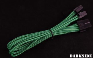 "4+4 EPS 12"" (30cm) HSL DarkSide Single Braid MF Cable - Commando (UV)"