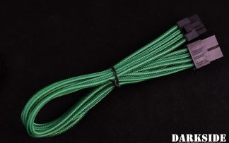 8-Pin PCI-E DarkSide HSL Single Braid MF Cable - Commando (UV)