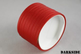 """1/4"""" (6mm) DarkSide High Density Cable Sleeving - Red UV 1Ft"""