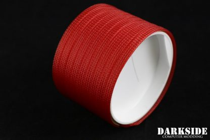 """1/4"""" (6mm) DarkSide High Density Cable Sleeving - Red UV 1Ft-2"""