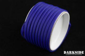 "1/4"" (6mm) DarkSide High Density Cable Sleeving - Dark Blue 1Ft"