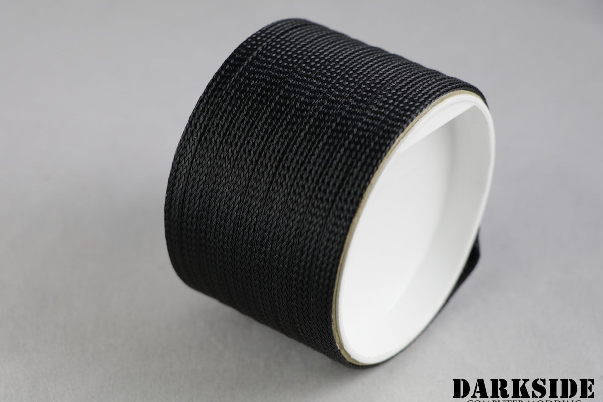 "1/4"" (6mm) DarkSide High Density Cable Sleeving - JET BLACK"