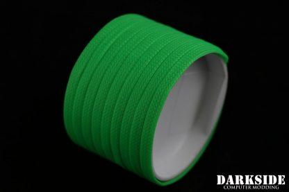 "1/4"" ( 6mm ) DarkSide High Density Cable Sleeving - Green UV-2"