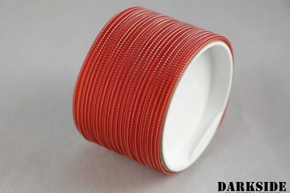 """5/64"""" ( 2mm ) DarkSide HD Cable Sleeving - Opaque Red"""