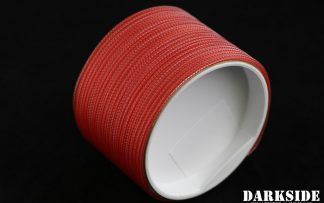 """5/64"""" ( 2mm ) DarkSide HD Cable Sleeving - Opaque Red-2"""